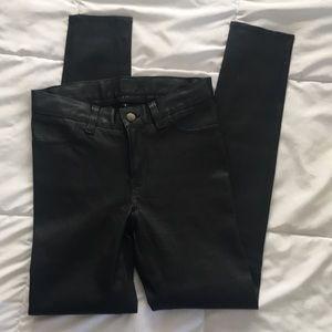 Black Skinny Leather Jeans